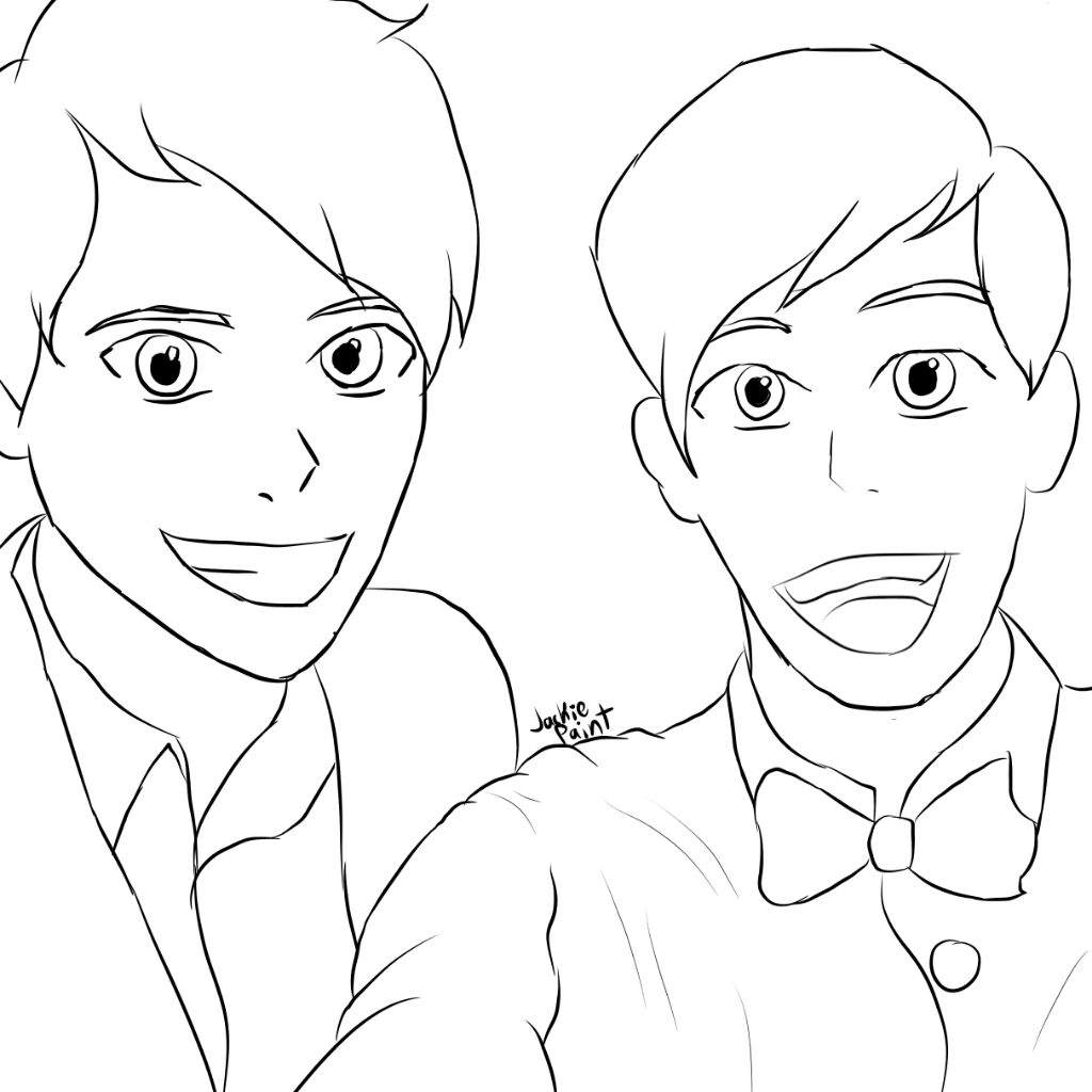 Dan And Phil Pages Coloring Pages
