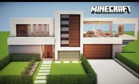 Top 5 as melhores casas feitas no minecraft minecraft for Casa moderna wiki