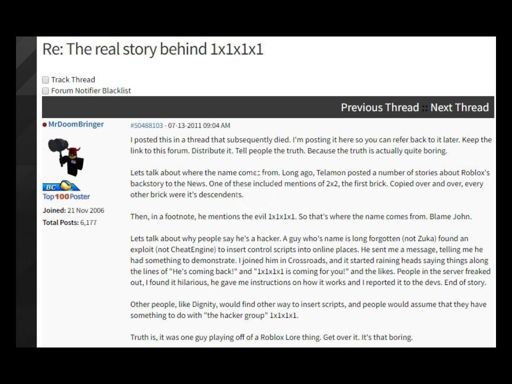Roblox Hacker 1x1x1x1 Story 1x1x1x1 Is He Real Roblox Amino
