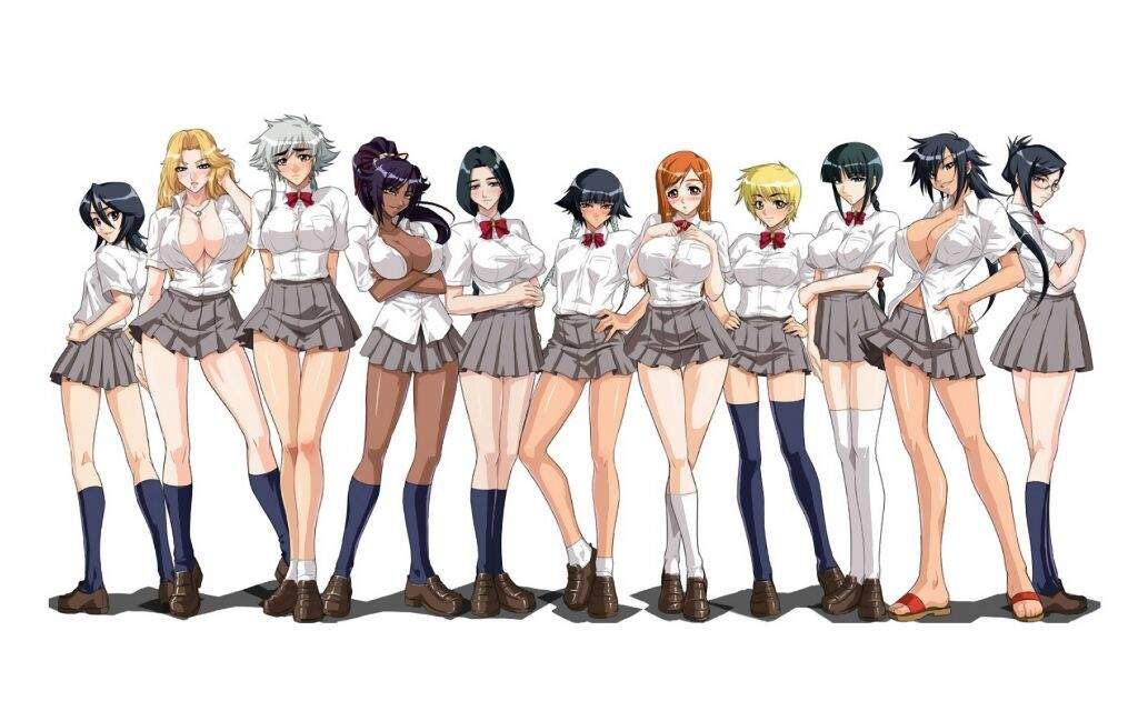 Anime Bleach  schoolgirls