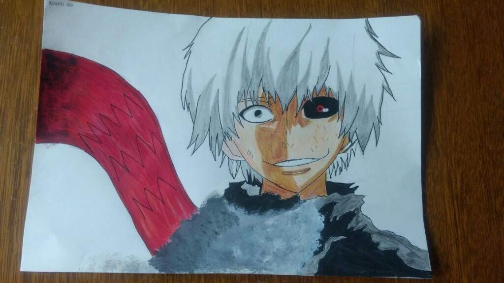 Dibujo De Kaneki Ken (hecho A Mano)