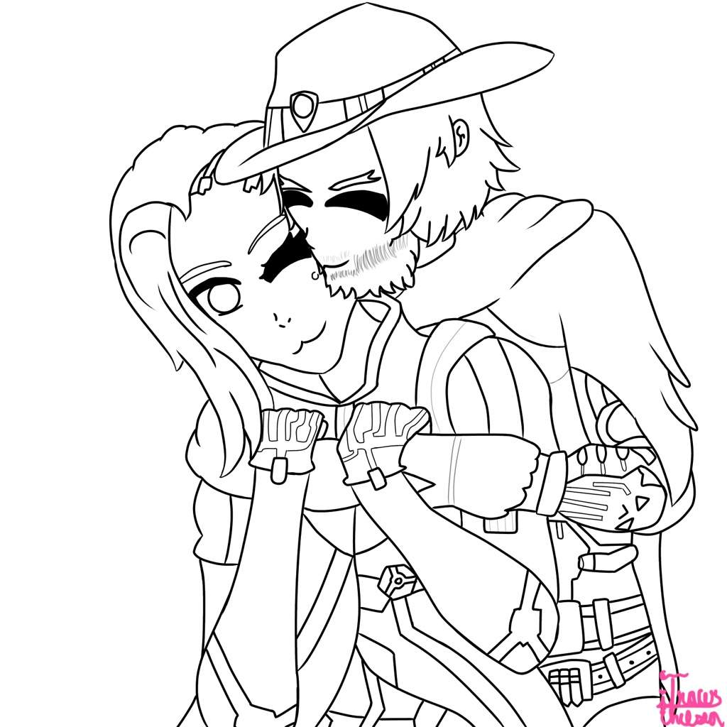Mcree overwatch coloring pages pictures to pin on for Overwatch coloring pages