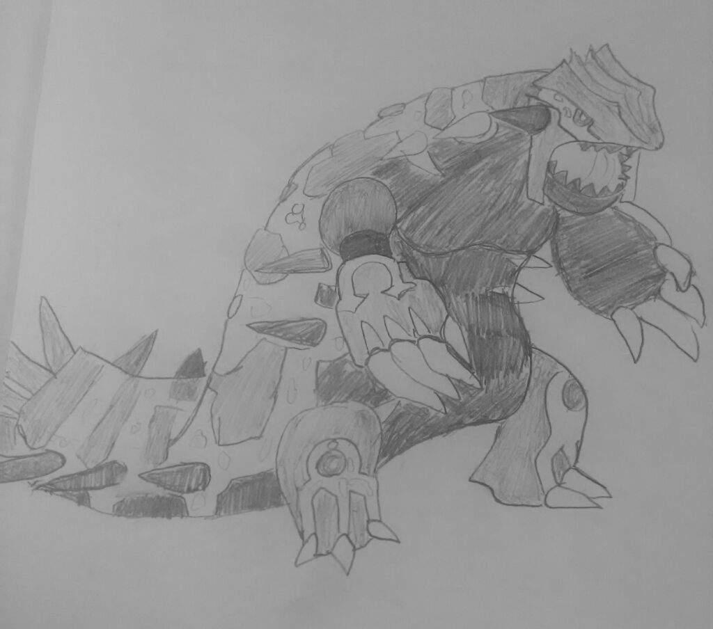 My Drawing Of Primal Groudon Pokémon Amino