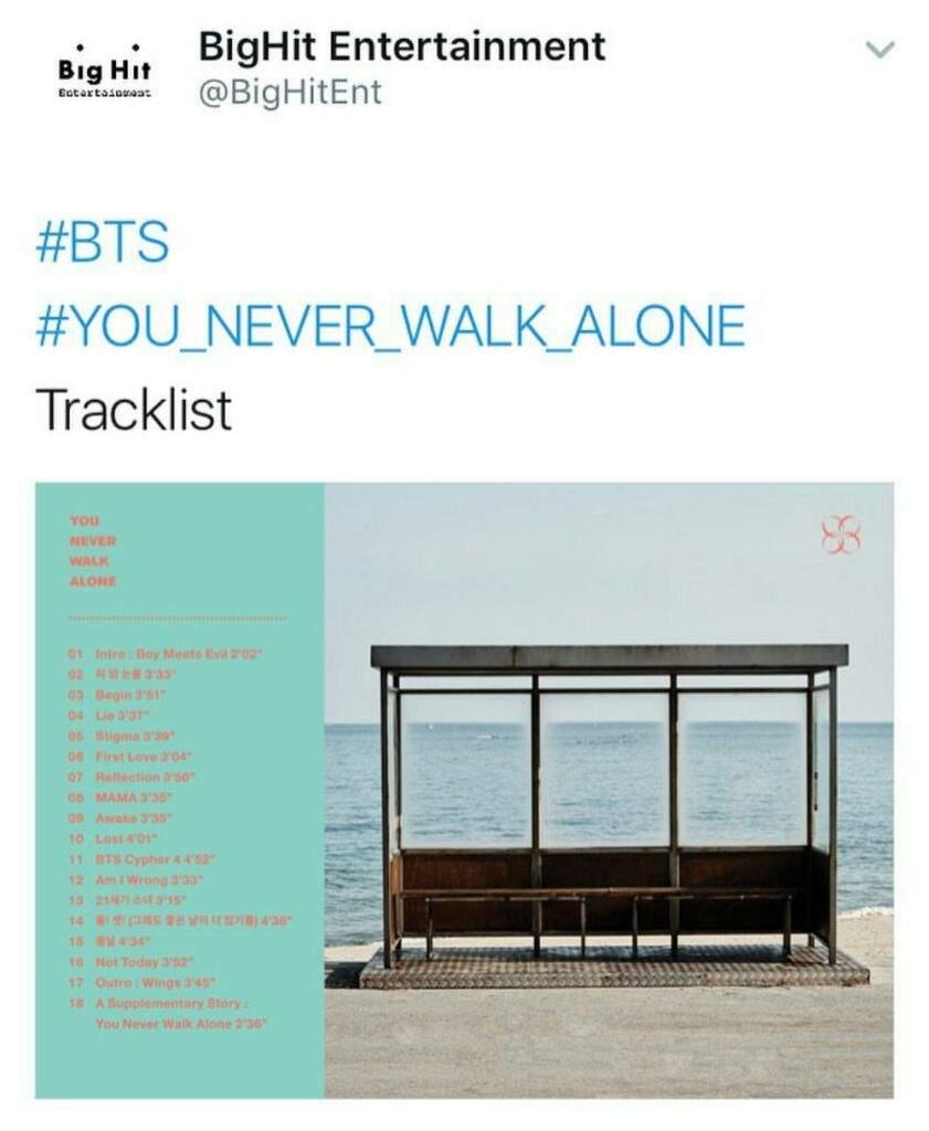 [Full Album] BTS - YOU NEVER WALK ALONE (Album) - YouTube