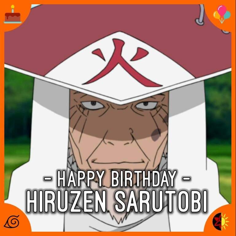 Výsledek obrázku pro Sarutobi Hiruzen happy birthday