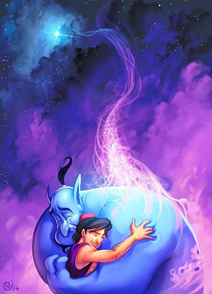 the friendship between aladdin and genie genie cartoon