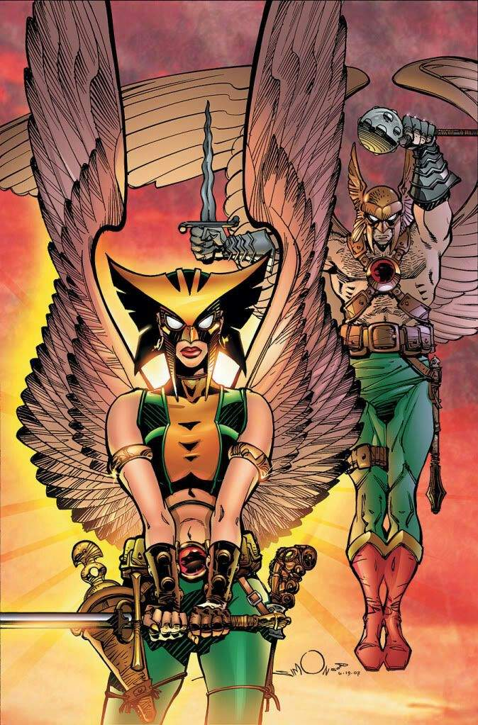 hawkman and hawkgirl relationship