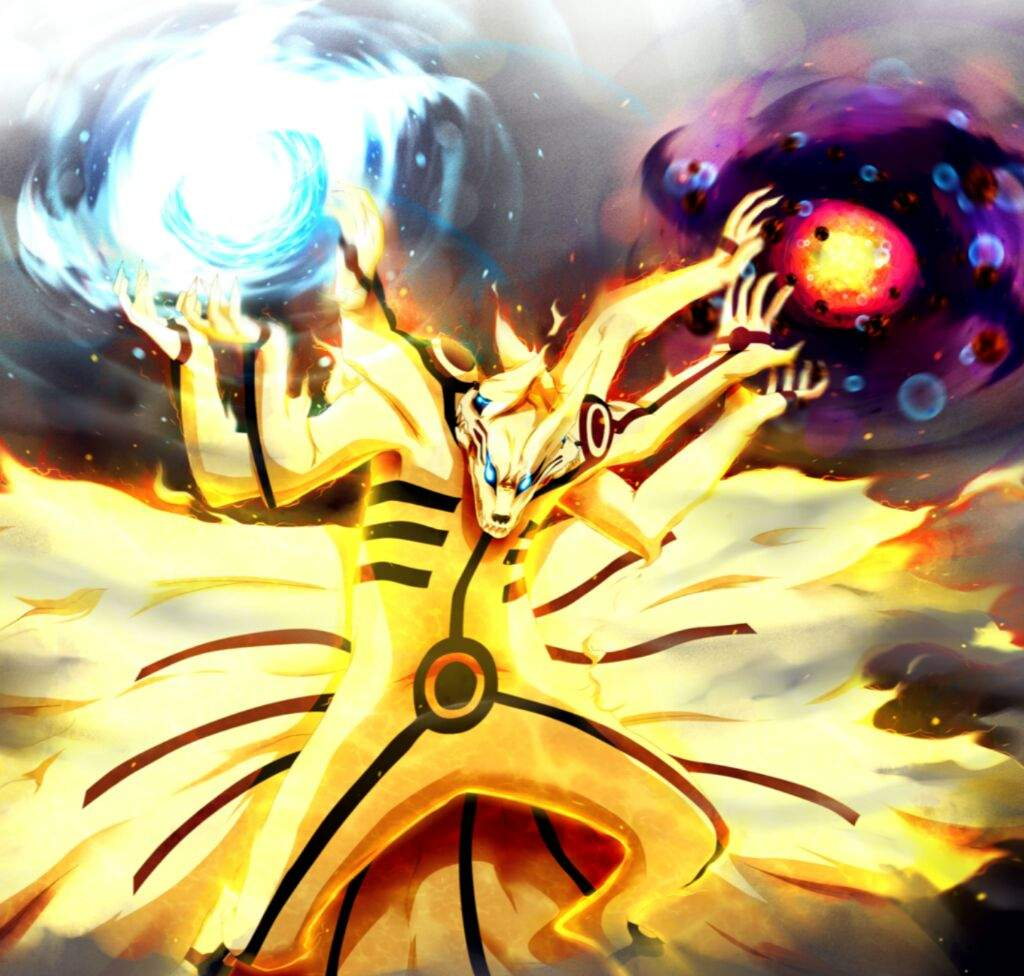 Naruto chakra mode tailed beast bomb
