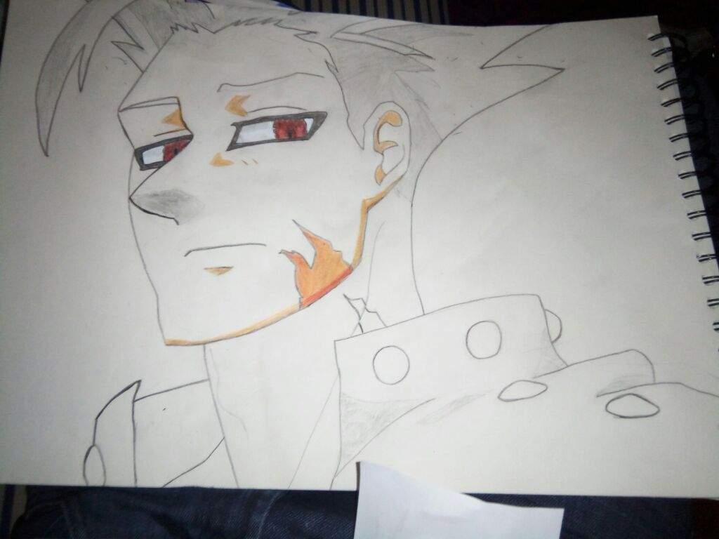 Proceso De Dibujo Ban~Nanatsu No Taizai