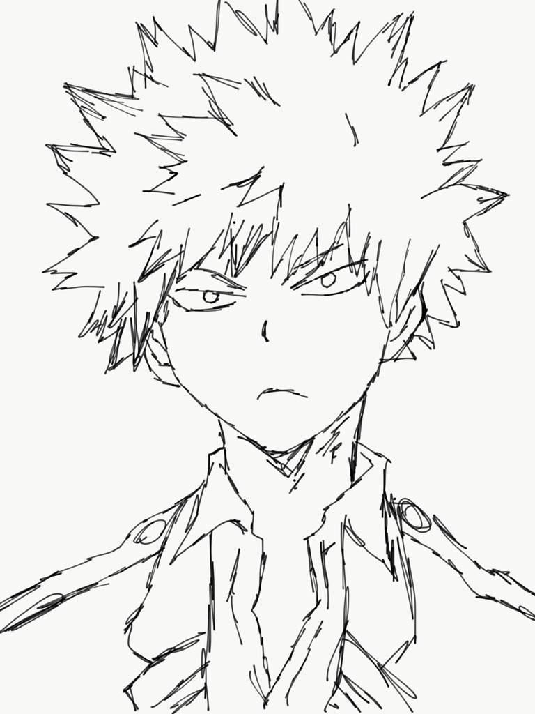 When Scanning Line Art You Should : Bakugou drawing anime amino