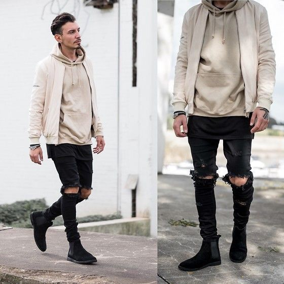 I love how versatile this look is , literally any hoodie can go with and  bomber, and it looks super badass and cool while still super comfortable. - Street Style: Bomber Jackets + Hoodies ・*:.。. Korean Fashion Amino
