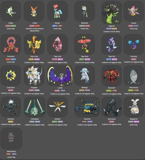 Shiny Locked Pokemon