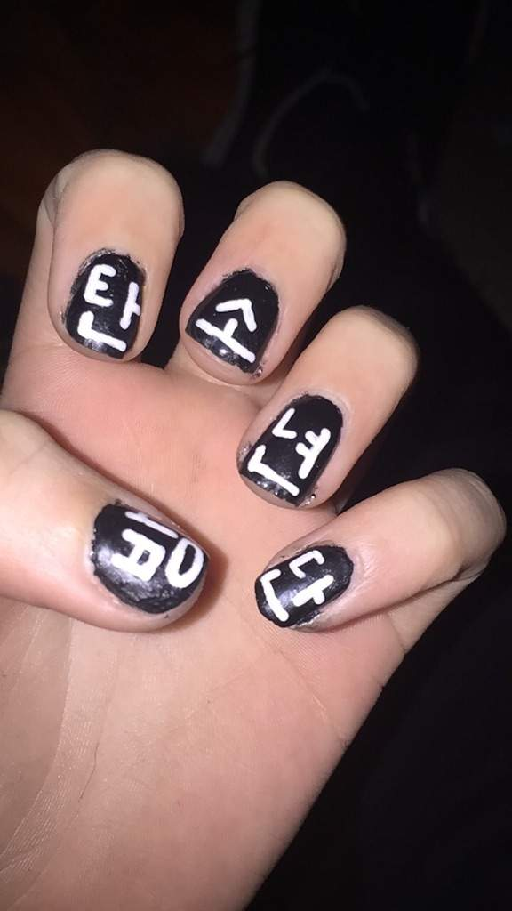 now writing the characters onto my nails was super hard i 39 d suggest. Black Bedroom Furniture Sets. Home Design Ideas