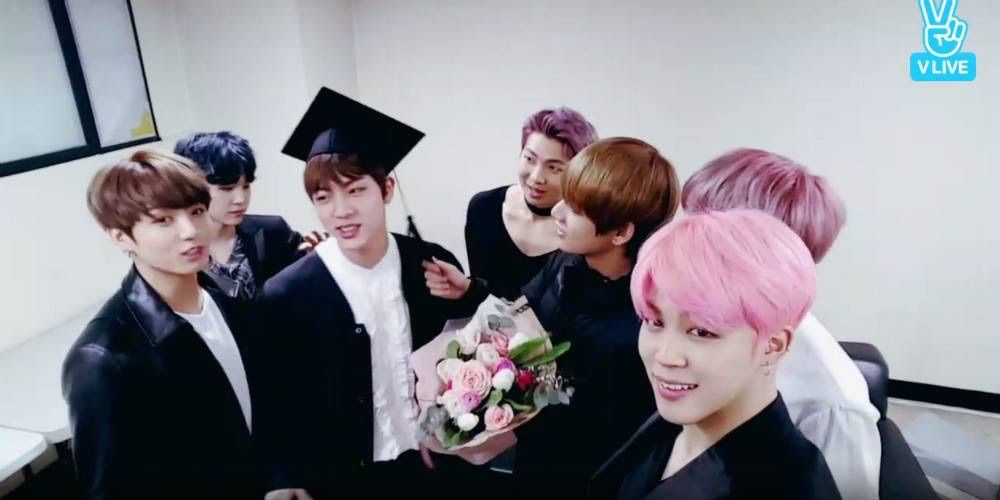 Bts Hold A Graduation Ceremony For Jin Allkpop Armys Amino