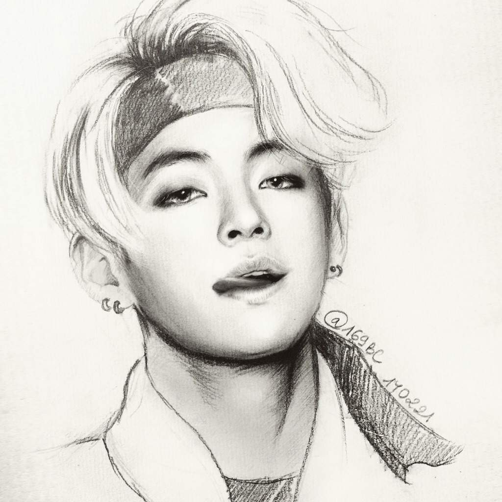 V Drawing Easy 28 Images Bts V Taehyung Fanart By M1ctr1x On