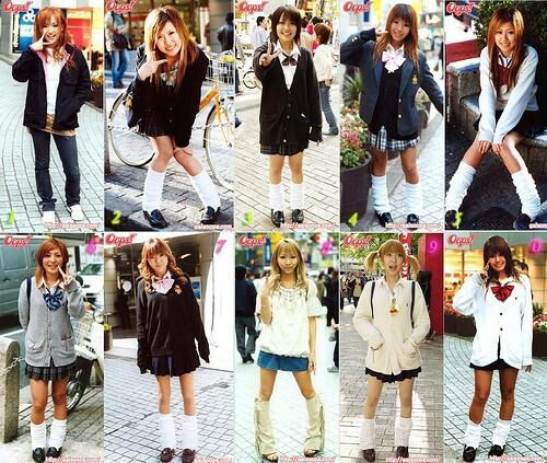 Japanese kogal girls remarkable, very