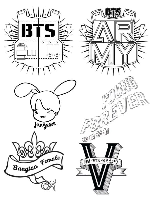 90 Coloring Pages Kpop