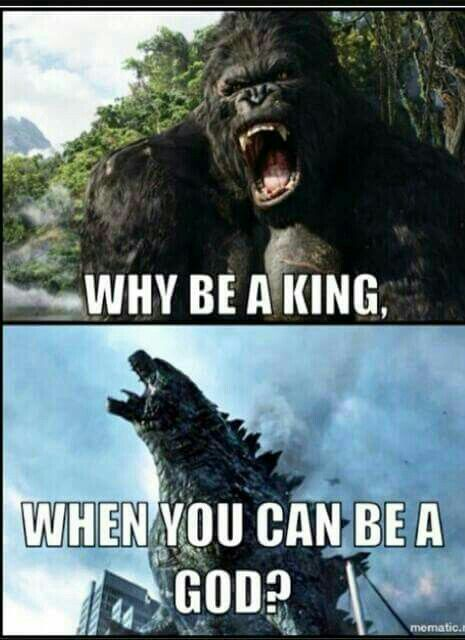 funny godzilla and king kong meme horror amino