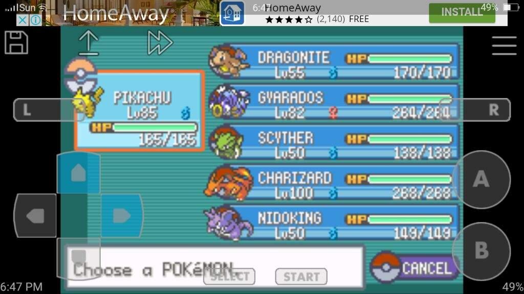 My Firered Team Pokémon Amino