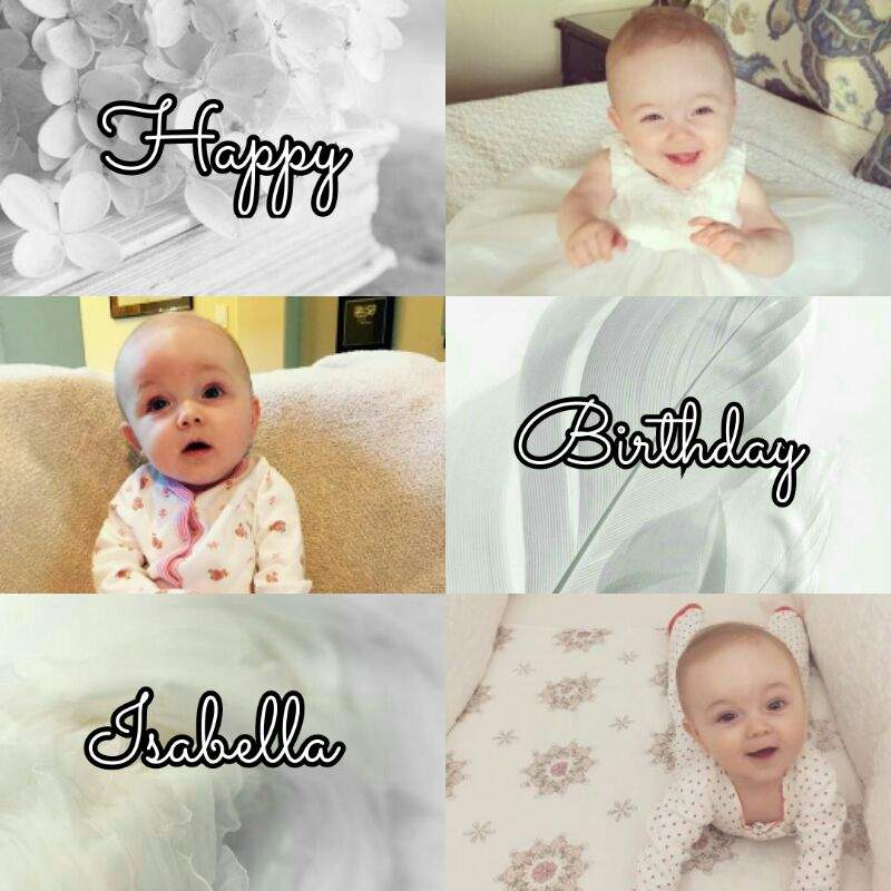 Happy Birthday Isabella Rose Sheppard