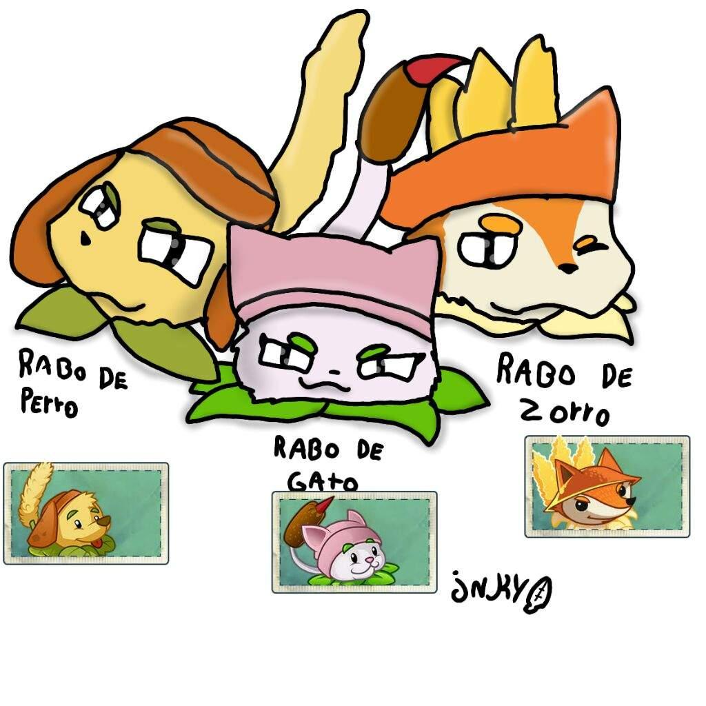 Fan Art Rabo De Perro De Gato Y De Zorro Plantas Vs