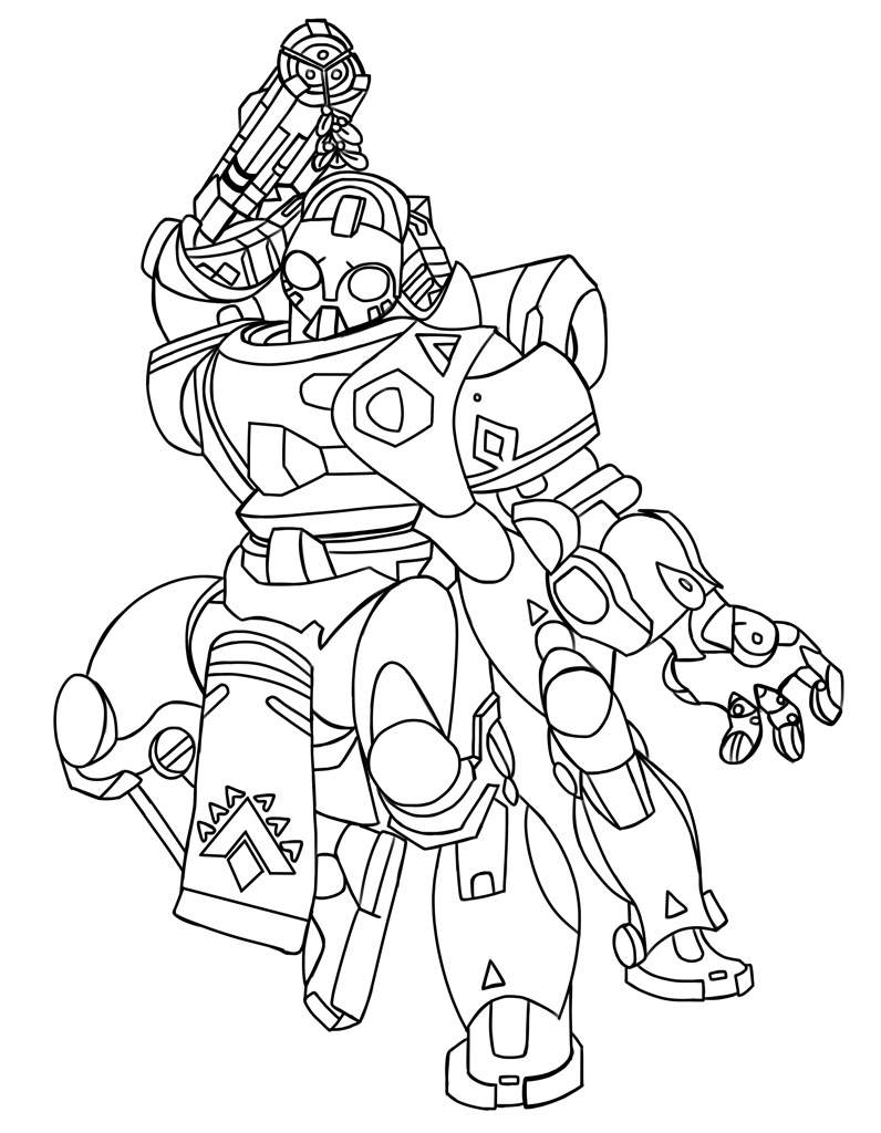 Overwatch Dva Coloring Pages Coloring Pages