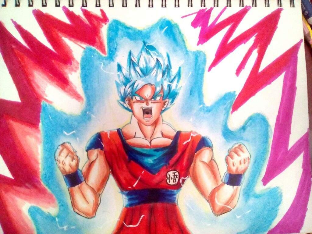 Goku Super Sayayin Dios Azul Para Colorear: Goku Ssj Blue Kaioken X10 Para Colorear