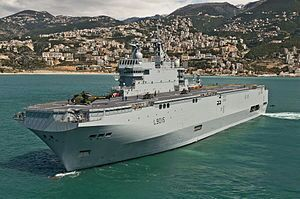 fitzgerald inspected one of the mistral class ships in may 2007 it was claimed that he would have used the same accommodation area to host a crew three