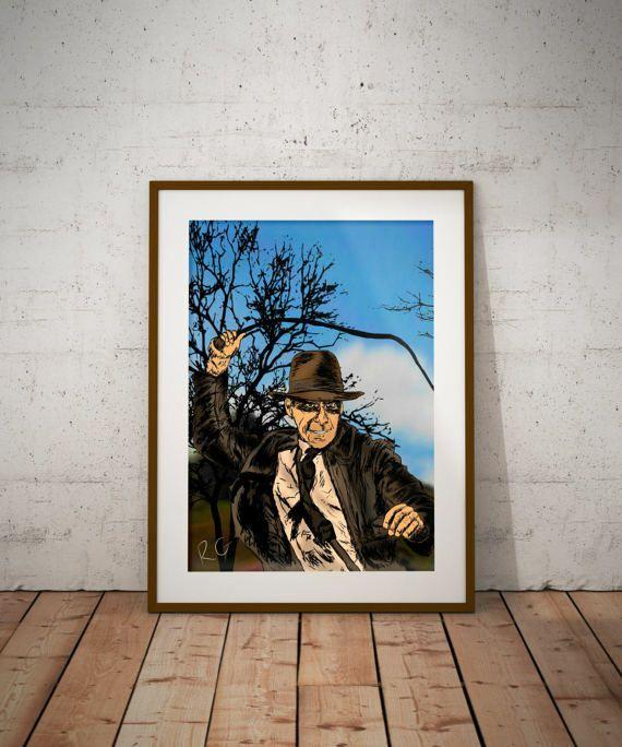 Indiana Jones Pop Culture wall Art Print | Comics Amino