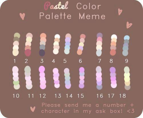 Pastel Color Palette Meme Undertale Amino