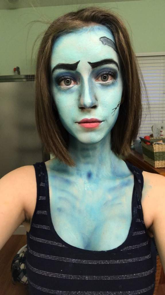 This is the makeup to corpse bride! This was my second try and I'm actually super happy on how it turned out. If you saw my first try you would be amazed ...