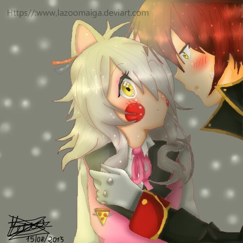 foxy in love with mangle