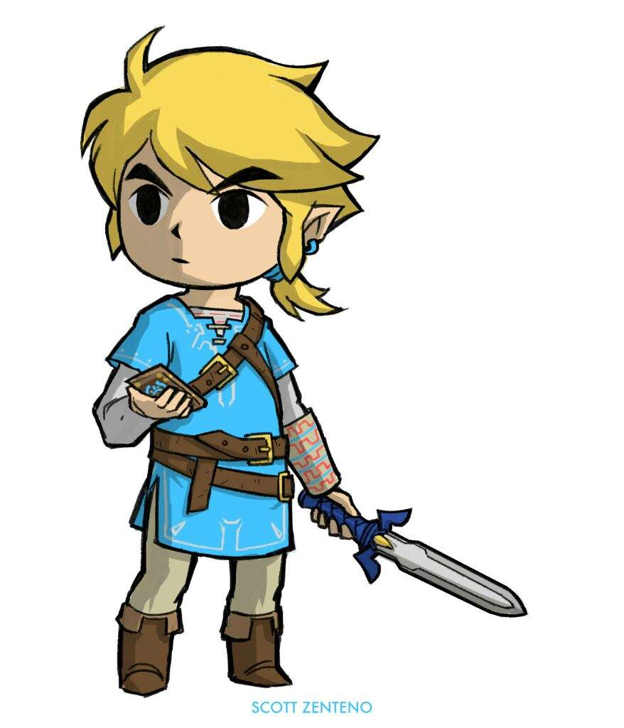 how to draw link from breath of the wild