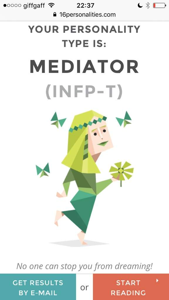 the 16 personality test is a test that uses letters to represent different aspects of personality for example here are my results