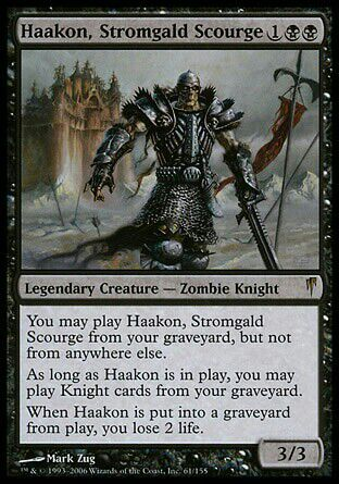 Haakan knight of the kitchen table edh deck teck mtg amino the first thing youll notice is that you cant cast him from the general zone thats why ive dubbed this post knight of the kitchen table watchthetrailerfo