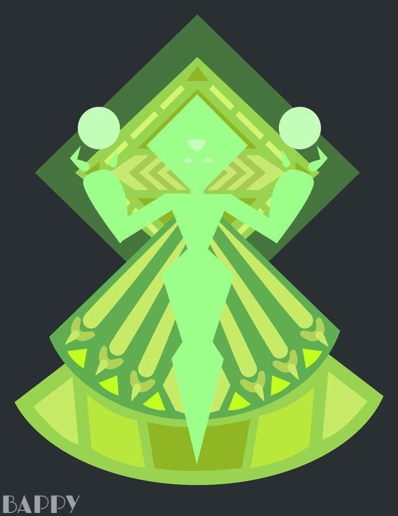 Peridot diamond mural steven universe amino for Yellow diamond mural