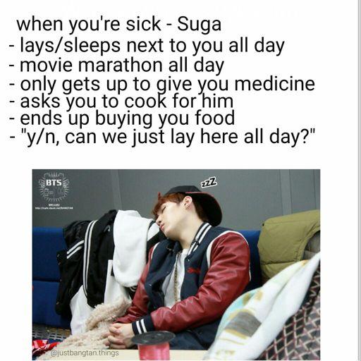 BTS Suga - when you're sick imagine | ARMY's Amino
