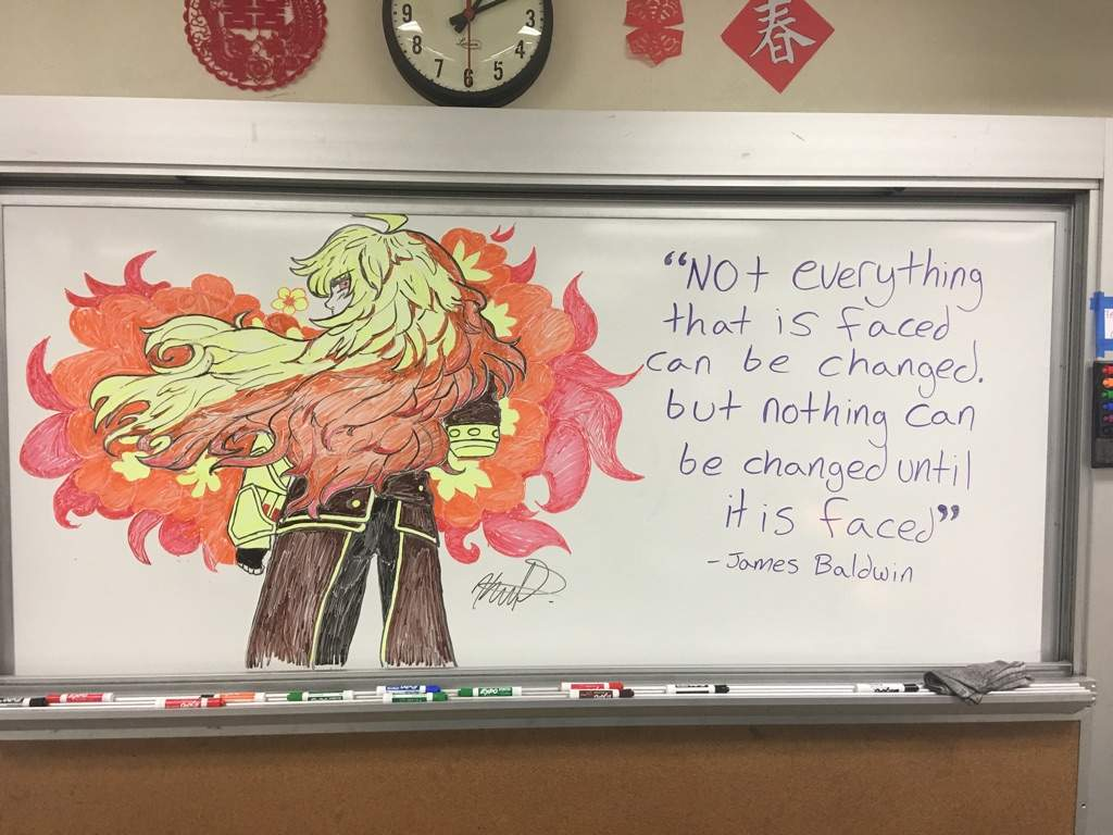 My teacher drew yang! | RWBY Amino