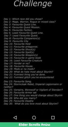 Skyrim challenge Day 6 | Tamriel: Elder Scrolls Amino Amino