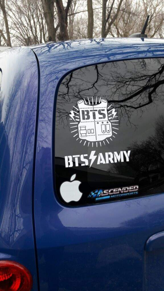 BTS Vinyl Decal On My Car ARMYs Amino - Vinyl decals for my car