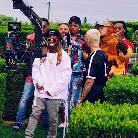 846ec3e05 Another photo of Justin Bieber from the new music video shoot of with DJ  Khalend in Malibu