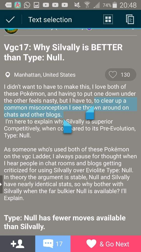 how to catch type null