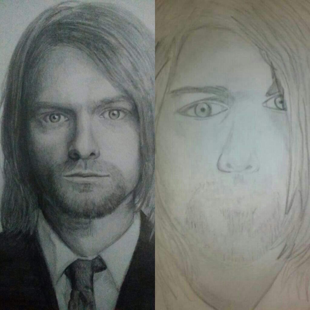 Kurt Cobain 2017 vs 2012   •Arte Amino• Amino