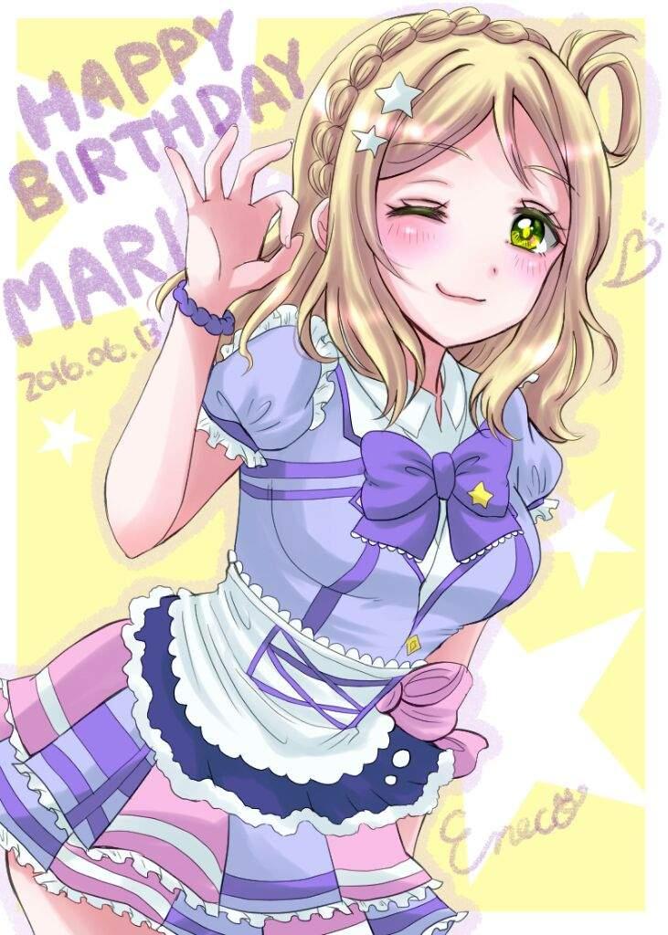 Anime Character Birthday 7 July : Character review mari ohara anime amino