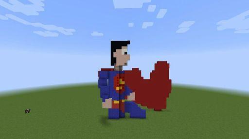 Superman Pixel Art Minecraft Brasil Amino