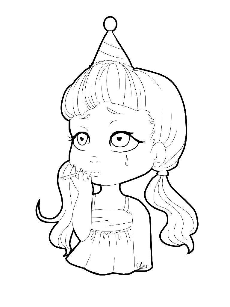melanie martinez coloring pages - cry baby melanie martinez coloring pages realistic