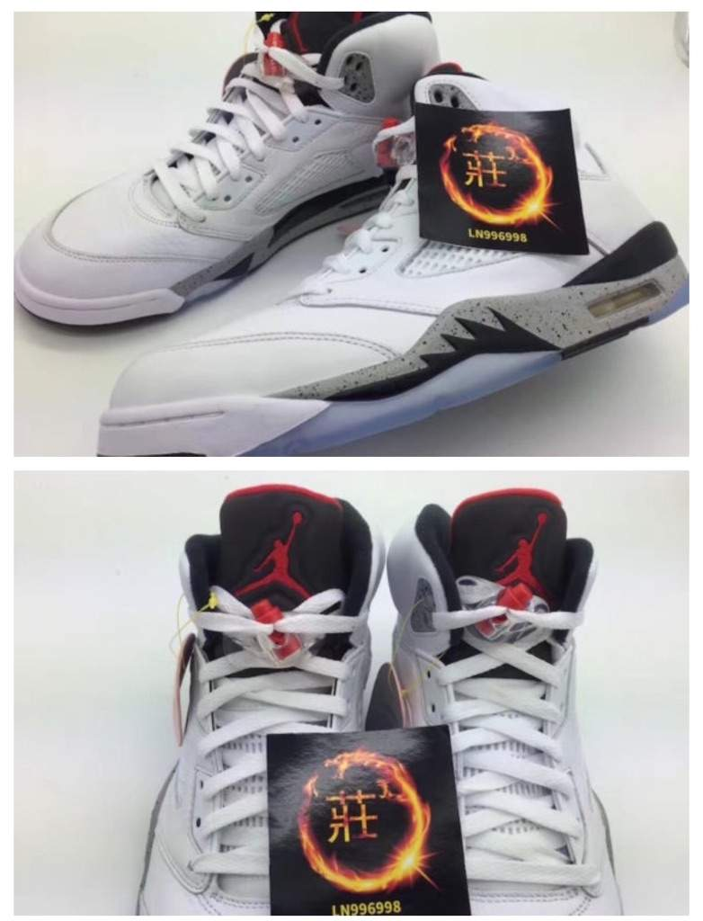 f6ff5bbcfb65 Our First Look At The Air Jordan 5 White Cement • KicksOnFire.com ...