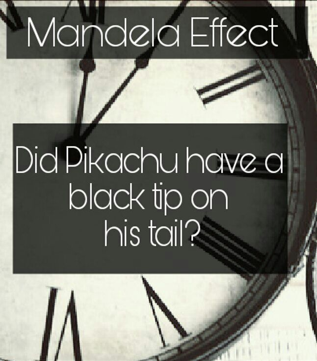 Does Pikachu have a black tail? - Mandela Effect | Pokémon ...
