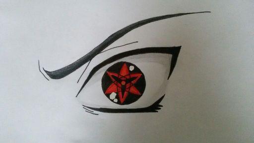 Drawing Sasukes Eternal Mangekyou Sharingan Naruto Amino