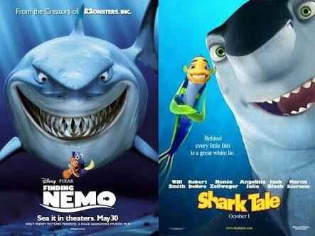 Cartoon guy finding nemo vs shark tale cartoon amino for Fish story movie